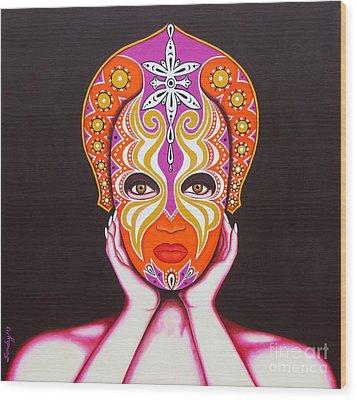 Goddess In Pink Wood Print by Joseph Sonday