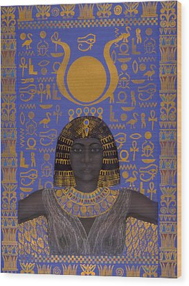 Goddess Isis Wood Print by Diana Perfect