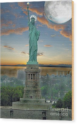 Goddess Of Freedom Wood Print by Gary Keesler