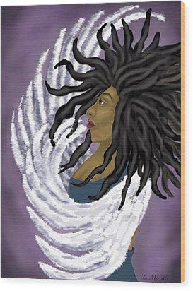 Goddess Rising Wood Print by Linda Marcille