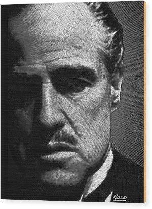 Godfather Marlon Brando Wood Print by Tony Rubino
