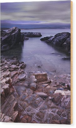 Godrevy Rocks 2 Wood Print by Debra Jayne