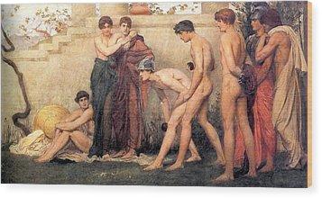 Gods At Play Wood Print by William Blake Richmond