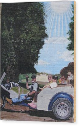 Gods Best Angel Wood Print by Sherryl Lapping