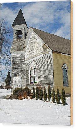 God's House Wood Print by Cheryl Cencich