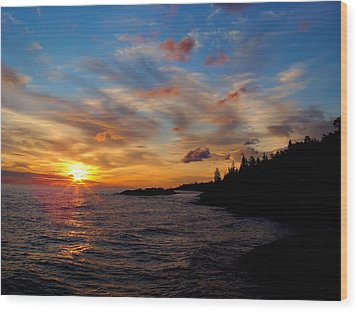 Wood Print featuring the photograph God's Morning Painting by Bonfire Photography
