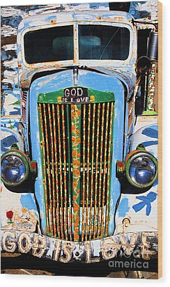 Gods Truck Wood Print by Jim West