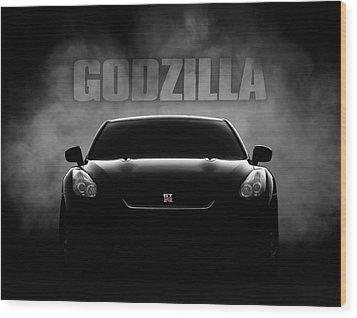 Godzilla Wood Print