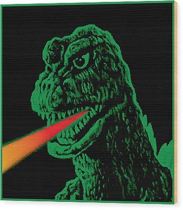 Godzilla Wood Print by Gary Grayson
