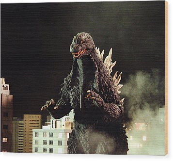 Godzilla, King Of The Monsters!  Wood Print