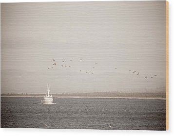 Wood Print featuring the photograph Going Fishing by Erin Kohlenberg