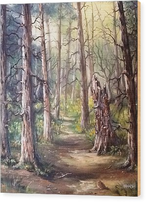 Wood Print featuring the painting Going For A Walk by Megan Walsh