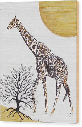 Wood Print featuring the painting Going Solo by Stephanie Grant