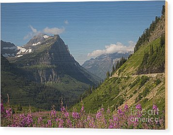 Going To The Sun Road Wood Print by Natural Focal Point Photography