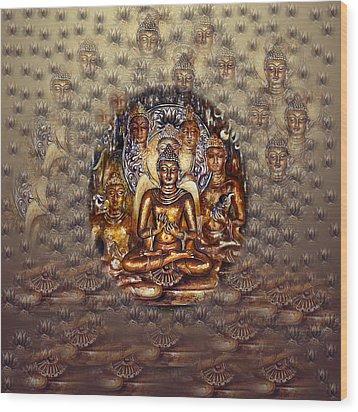 Gold Buddha Wood Print