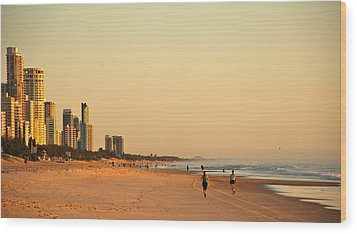 Wood Print featuring the photograph Gold Coast Beach by Eric Tressler