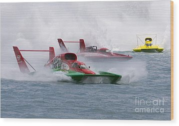 Wood Print featuring the photograph Gold Cup Hydroplane Races by Jim West