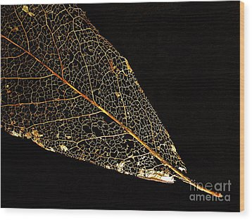 Wood Print featuring the photograph Gold Leaf by Ann Horn