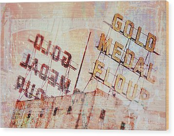 Gold Medal Flour  Wood Print by Susan Stone
