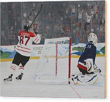 Gold Medal Goal Wood Print by Betty-Anne McDonald