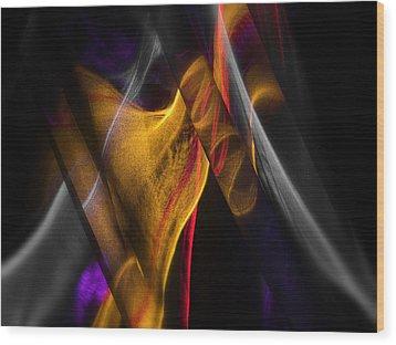 Gold Ribbon Wood Print by Dennis James