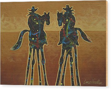 Gold Riders Wood Print by Lance Headlee