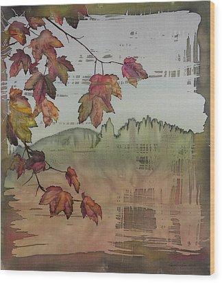 Gold Ridge Maple Wood Print by Carolyn Doe
