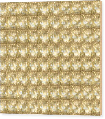 Gold Sparkle Tone Pattern Unique Graphics Wood Print by Navin Joshi