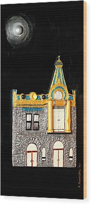 Gold Victorian Mansion-montreal Wood Print