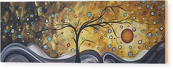 Golden Admiration By Madart Wood Print by Megan Duncanson