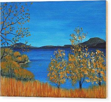 Golden Autumn Wood Print by Anastasiya Malakhova