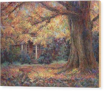 Golden Autumn Wood Print by Susan Savad