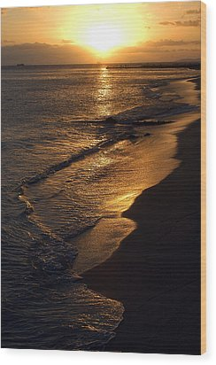 Wood Print featuring the photograph Golden Beach by Yue Wang