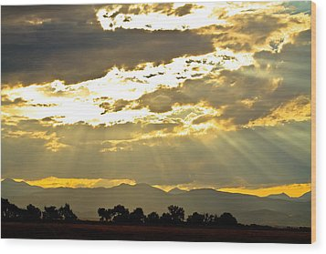 Golden Beams Of Sunlight Shining Down Wood Print by James BO  Insogna