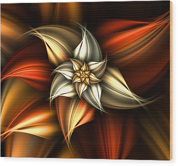 Golden Beauty Wood Print by Ester  Rogers