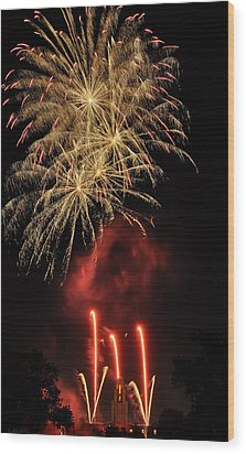 Wood Print featuring the photograph Golden Bursts And Ghostly Smoke by Kevin Munro