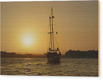 Wood Print featuring the photograph Golden Cabo Sunset by Christine Till