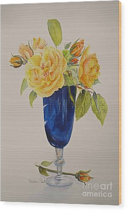 Wood Print featuring the painting Golden Celebration by Beatrice Cloake