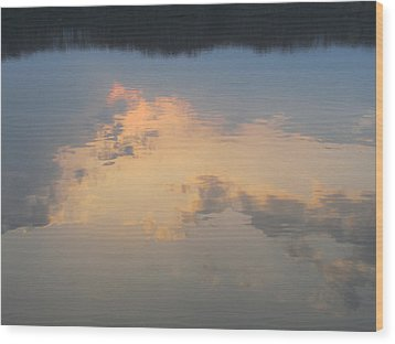 Golden Clouds On Water Wood Print by Jaime Neo