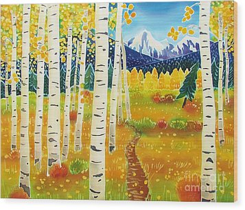 Golden Colorado Day Wood Print by Harriet Peck Taylor