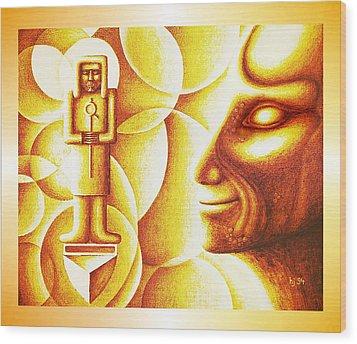 Golden Days Of  Atlantis Wood Print by Hartmut Jager