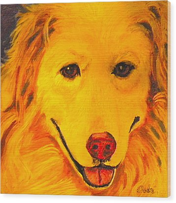 Golden Wood Print by Debi Starr