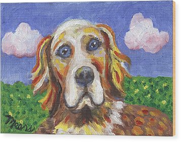 Golden Dog Wood Print by Linda Mears