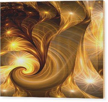 Golden Dreams I Wood Print by Lea Wiggins