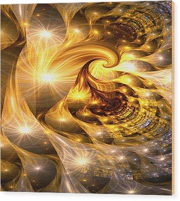 Golden Dreams II Wood Print by Lea Wiggins