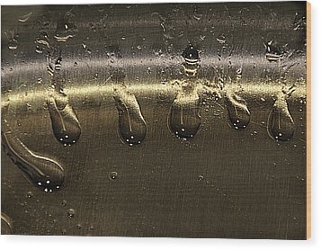 Wood Print featuring the photograph Golden Droplets by Geraldine Alexander
