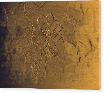 Golden Effulgence Wood Print by Jeanette C Landstrom