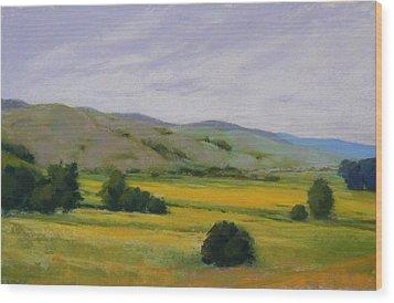 Golden Field II Wood Print