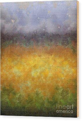 Golden Fields Wood Print