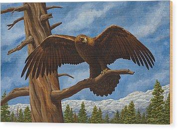 Golden Flex Wood Print by Crista Forest